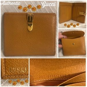 Vintage Gucci BeltBuckle Latch 90's Bifold Wallet